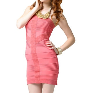 Sara Boo Women's Shimmer Mapped Bandage Dress