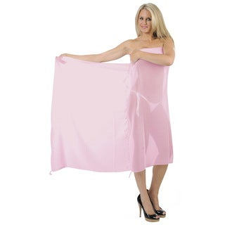 La Leela Women's Sheer Pink Chiffon Sarong