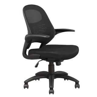 Manhatta Comfort Mercer Black Mesh Office Chair (Set of 2)
