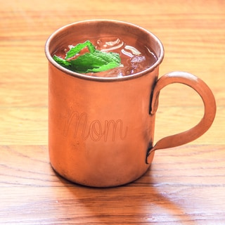 'Mom' Moscow Mule Copper Mug with Polishing Cloth