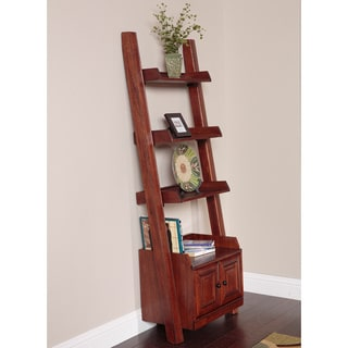 Ladder Bookcase with two doors