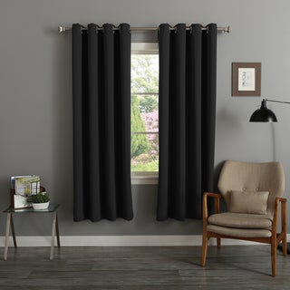 Aurora Home Silver Grommet Top Thermal Insulated 72-inch Blackout Curtain Panel Pair