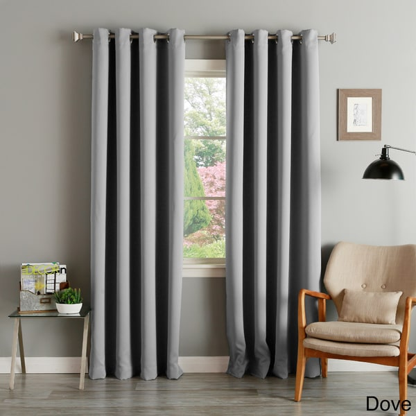 Aurora Home Silver Grommet Top Thermal Insulated 95-inch Blackout Curtain Pair in Dark Grey (As Is Item)