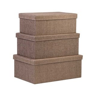 Creative Scents 3-piece Sand Dune Fabric Storage Box Set