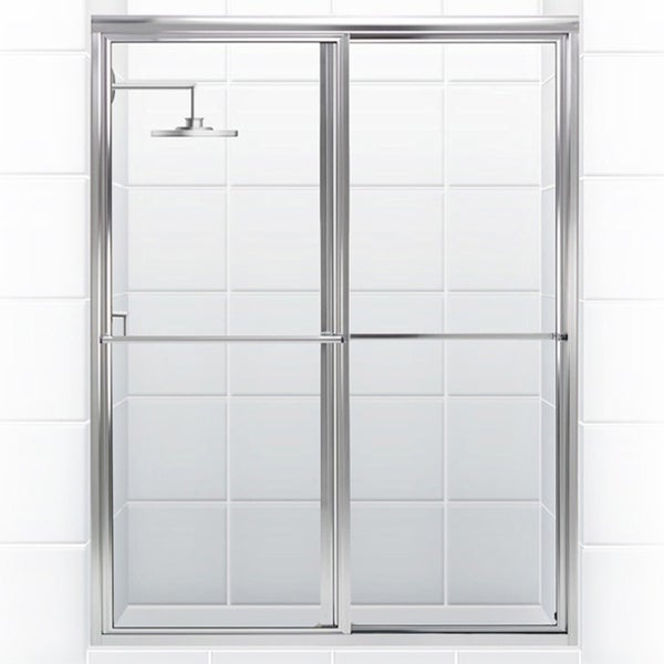 Newport Series 54 In X 70 In Framed Sliding Shower Door