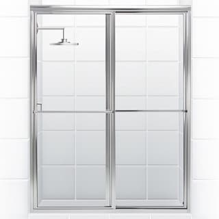 Newport Series 54 in. x 70 in. Framed Sliding Shower Door With Towel Bar in Chrome with Clear Glass
