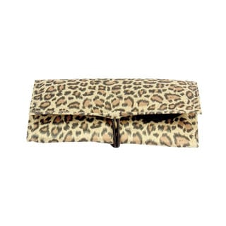 Household Essentials Leopard Tri-Fold Travel Jewelry Organizer