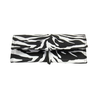 Household Essentials Zebra Tri-Fold Travel Jewelry Organizer