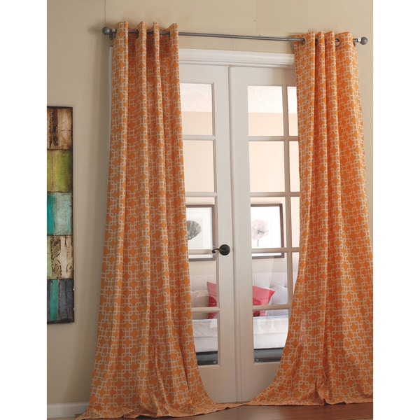 avila orange linen 96 inch curtain panel overstock