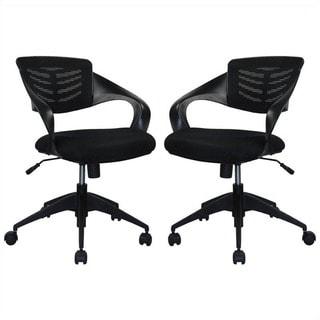 Manhattan Comfort Grove Mid-back Office Chair (Set of 2)