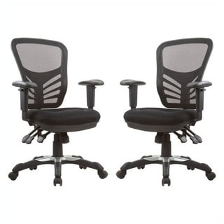 Manhattan Comfort Gouvernor Executive Mesh High-Back Adjustable Office Chair (Set of 2)