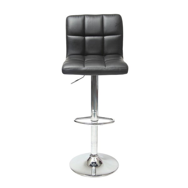 Manhattan Comfort Paladino White Adjustable Bar Stool