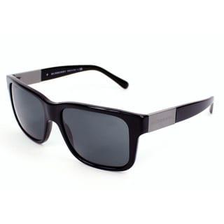 Burberry Men's BE4170 Black Plastic Sunglasses