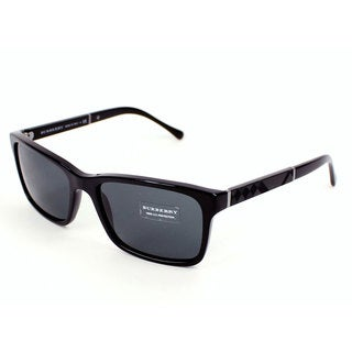 Burberry Men's BE4162 Black Plastic Sunglasses