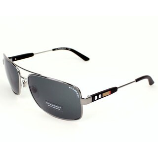 Burberry BE3074 Men's Metal Rectangular Sunglasses