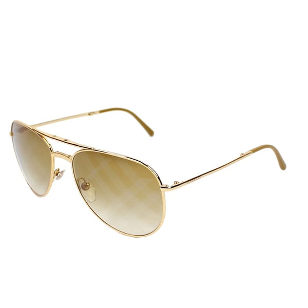 Burberry Men's BE3071 Metal Aviator Sunglasses