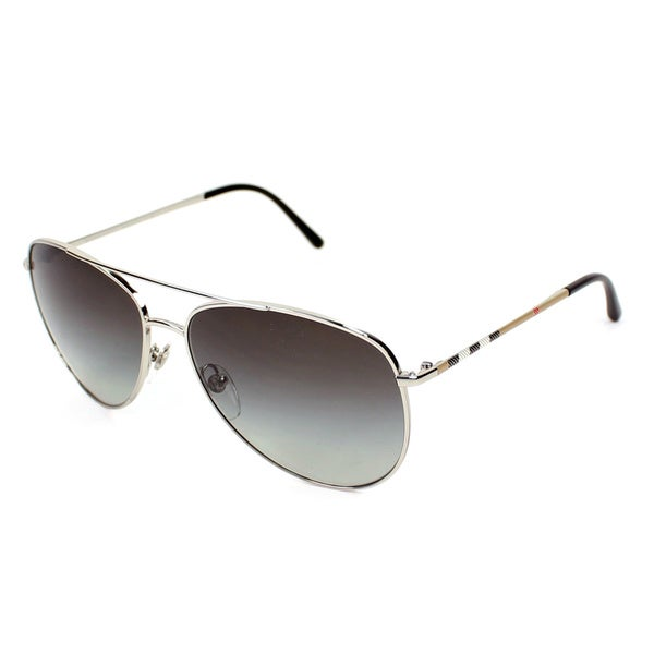 Burberry Women's BE3072 Metal Aviator Sunglasses