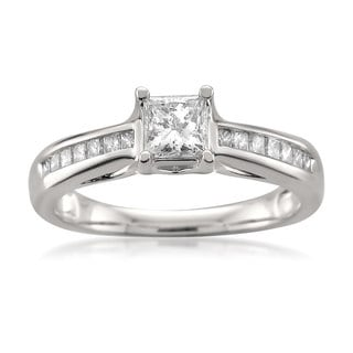 14k White Gold 3/4ct TDW Princess-cut Diamond Engagement Ring (H-I, SI2)
