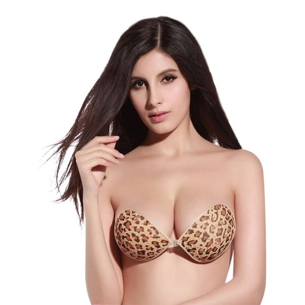 Bra Society Brown and Grey Leopard Print Strapless Bra (Set of 2)