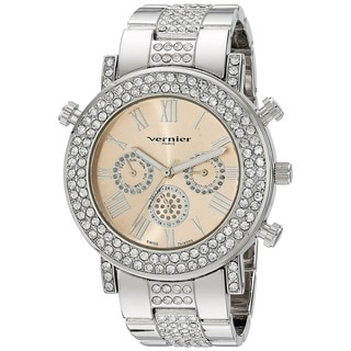 Vernier Paris Women's Multi-function Swiss Quartz Crystal Accent Watch