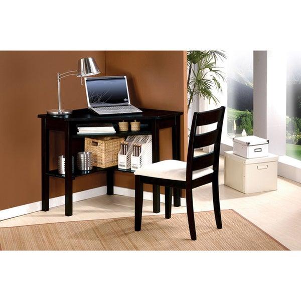 Naco 2 Piece Black Corner Desk Chair Set 17155261