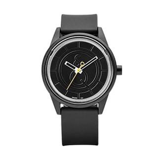 Men's Solar-Powered Black Strap Watch