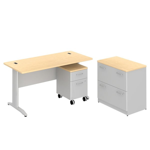 Bush BBF Sector 60 x 30 inch Rectangular Desk with 2