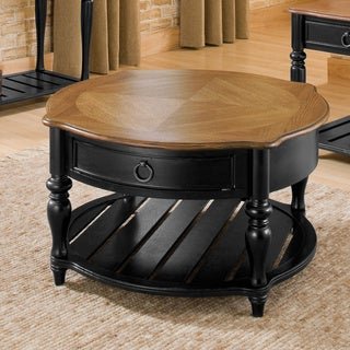 Aston Black and Oak Cocktail Table