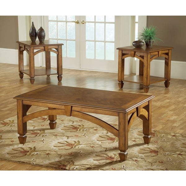 Wood Arch Cofee Table (Set of 3)