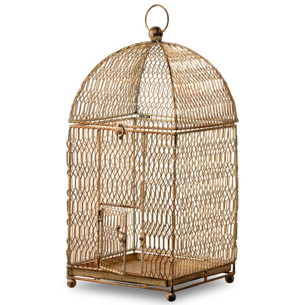22-inch Square Rust Birdcage