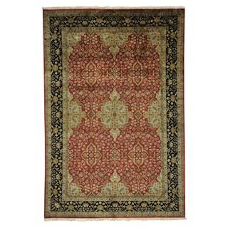 Kashan Revival New Zealand Wool Oriental Handmade Rug (6'1 x 9')