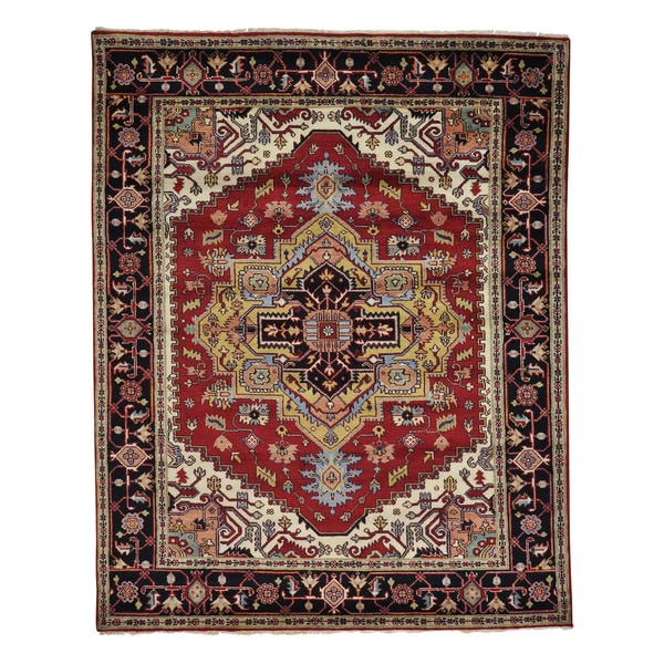 Tribal Design Serapi Heriz Hand Knotted Oriental Rug (8' x 10') 15105204