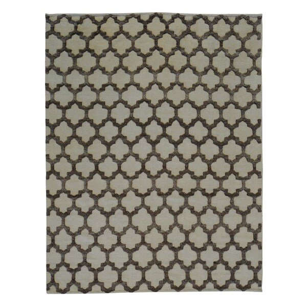 Moroccan Berber High and Low Pile Handmade Oriental Rug (7'10 x 10'1)