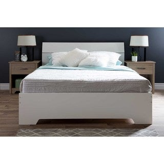 South Shore Queen Platform Bed with Headboard