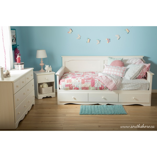 kids boys girls bedroom bed twin daybed drawers clothes toys storage furniture ebay. Black Bedroom Furniture Sets. Home Design Ideas