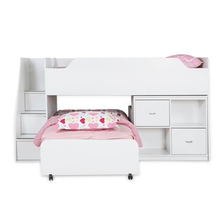 South Shore Mobby Twin Loft Bed with Trundle and Storage Unit