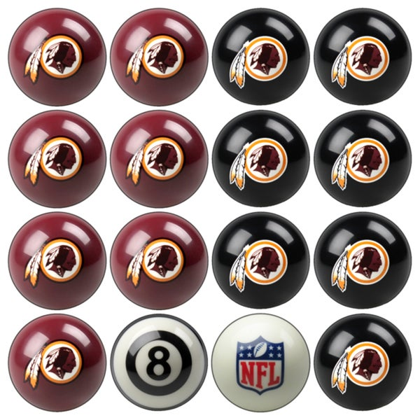 NFL Teams Licensed Football Billiard Balls (Complete Set of 16 Balls)