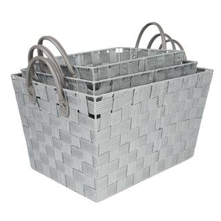 Woven Grey Storage Baskets (Set of 3)