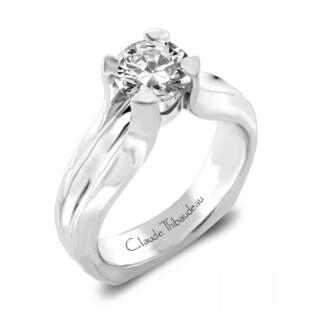 Claude Thibaudeau Platinum Diamond Semi Mount Engagement Ring
