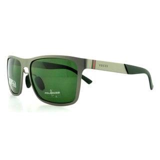 Gucci Men's 2238/S Metal Rectangular Polarized Sunglasses
