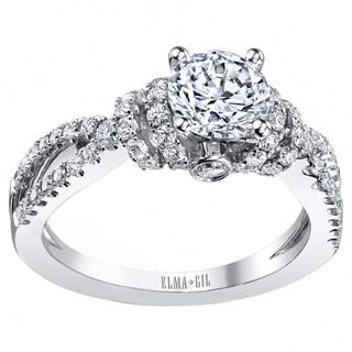 18k White Gold 3/4ct TDW Diamond Semi-mount Engagement Ring (G-H, VS1-VS2) (Size 7)
