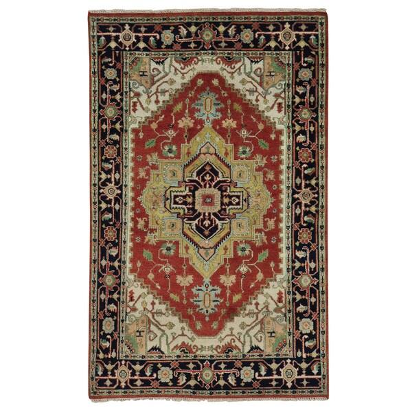Hand Knotted Serapi Heriz Tribal Design Oriental Rug (5' x 8') 15105791