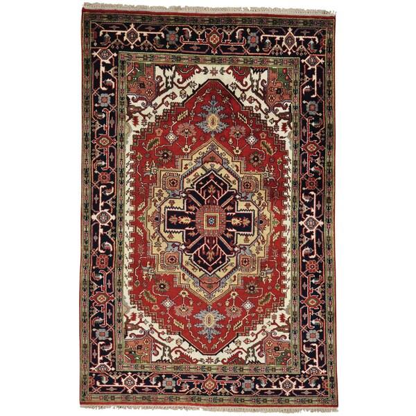 Hand Knotted Serapi Heriz Tribal Design Oriental Rug (5'9 x 9') 15105792