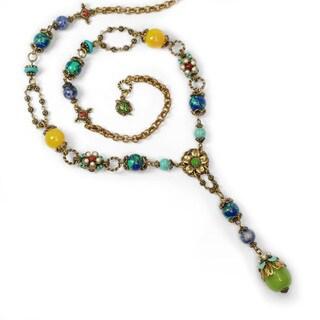 Sweet Romance Pewter Multi-gemstone Rocky Mount Meadow Necklace