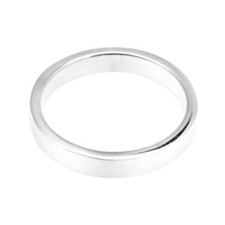 Simple Everyday Wear .925 Sterling Silver Plain Band (Thailand)