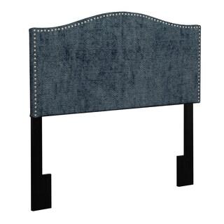 Better Living Lucca Steel Blue Velvet Full/Queen Headboard