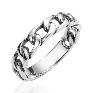 Forever Bind Chain Link .925 Sterling Silver Ring (Thailand)