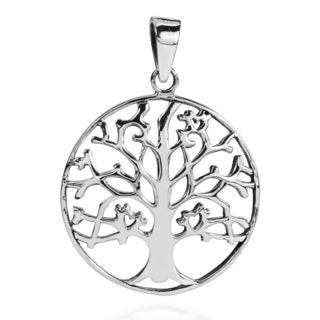 Steadfast Branches Tree of Life .925 Silver Pendant (Thailand)