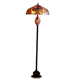Chloe Lighting Halston Collection Tiffany Style Victorian 3-light Dark Bronze Floor Lamp