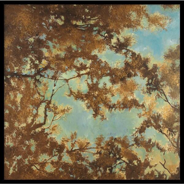 Liz Jardine 'Tree Canopy' Framed Art Print 33 x 33-inch